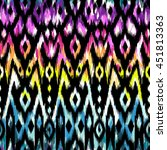 rainbow ikat pattern design  ... | Shutterstock .eps vector #451813363