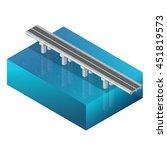 bridge over the river design ... | Shutterstock .eps vector #451819573