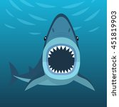 vector illustration of shark... | Shutterstock .eps vector #451819903