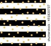 seamless pattern of gold dots... | Shutterstock . vector #451820737