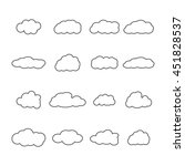 set of sixteen icons clouds... | Shutterstock .eps vector #451828537