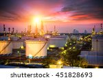 oil and gas industry   refinery ... | Shutterstock . vector #451828693