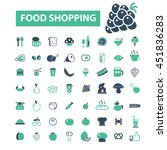 food shopping icons   Shutterstock .eps vector #451836283