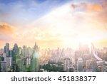 future industry concept  big... | Shutterstock . vector #451838377