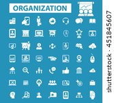 organization icons | Shutterstock .eps vector #451845607