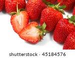 fresh and tasty strawberries | Shutterstock . vector #45184576