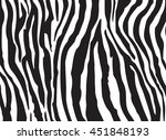 set of business cards  zebra | Shutterstock .eps vector #451848193