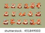 set vector stock illustrations... | Shutterstock .eps vector #451849003