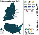 vector set of mid atlantic...