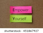empower yourself text on... | Shutterstock . vector #451867927