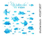 Vector Set Of Watercolour Fish...