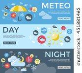three horizontal weather... | Shutterstock .eps vector #451881463