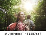 adventure  travel  tourism ... | Shutterstock . vector #451887667