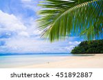 exotic paradise under trees  | Shutterstock . vector #451892887