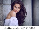 portrait close up of young... | Shutterstock . vector #451910083