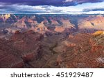grand canyon at the sunset seen ... | Shutterstock . vector #451929487