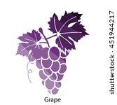 grape icon. flat color design....