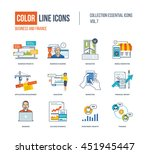 color thin line icons set.... | Shutterstock .eps vector #451945447