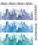 horizontal cityscape with... | Shutterstock .eps vector #451954057