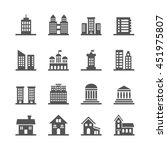 building  house icons | Shutterstock . vector #451975807