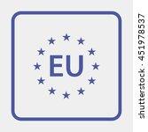 eu pictogram. | Shutterstock . vector #451978537