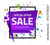 abstract geometric sale poster. ... | Shutterstock .eps vector #451978567