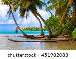 rangiroa atoll  tuamotu islands ... | Shutterstock . vector #451982083