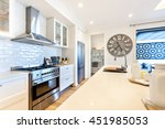 luxury kitchen closeup with... | Shutterstock . vector #451985053
