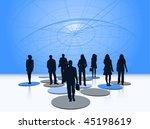 illustration of business people ... | Shutterstock .eps vector #45198619