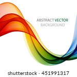 abstract color wave image on a... | Shutterstock .eps vector #451991317