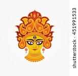indian hindu religion goddess... | Shutterstock .eps vector #451991533