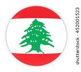 lebanese flag button   flag of... | Shutterstock . vector #452001523