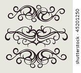 vector ornament in flower style   Shutterstock .eps vector #45201250