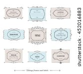 vintage calligraphic frames and ... | Shutterstock .eps vector #452016883