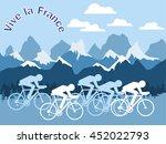 vector flat tour cycling... | Shutterstock .eps vector #452022793