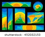 vector vector brazil summer... | Shutterstock .eps vector #452032153