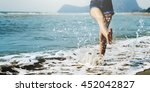 beach summer holiday vacation... | Shutterstock . vector #452042827
