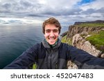 self portrait at the edge of... | Shutterstock . vector #452047483