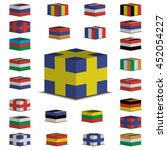 set of flags of different...   Shutterstock .eps vector #452054227