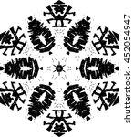 hexagon mandala pattern. tribal ... | Shutterstock .eps vector #452054947