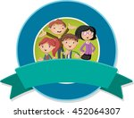vector banners and labels...   Shutterstock .eps vector #452064307
