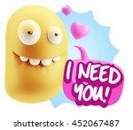 3d rendering. biting lip... | Shutterstock . vector #452067487