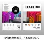 geometric cover background ... | Shutterstock .eps vector #452069077