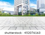 empty pavement and modern... | Shutterstock . vector #452076163