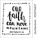 Our Faith Can Move Mountains O...