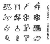 science  lab and research icon... | Shutterstock .eps vector #452080897