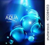 aqua skin collagen serum and... | Shutterstock .eps vector #452084053