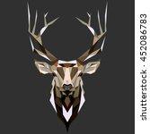deer. low poly deer. low poly... | Shutterstock .eps vector #452086783