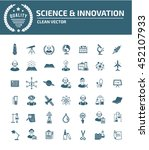 science icon innovation icon... | Shutterstock .eps vector #452107933