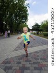 active child jumping on the...   Shutterstock . vector #452128327